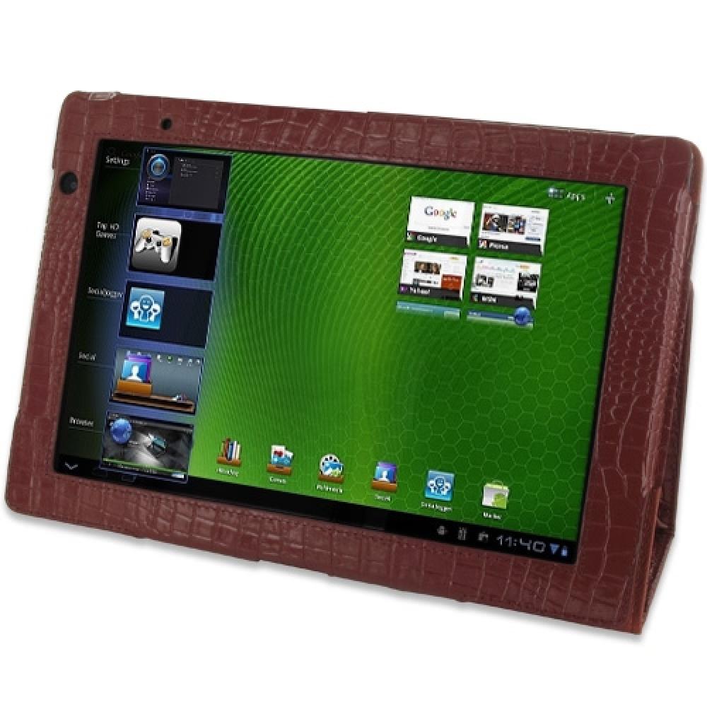 10% OFF + FREE SHIPPING, Buy PDair Quality Handmade Protective Acer Iconia Tab A500 Genuine Leather Flip Carry Cover (Red Croc) online. You also can go to the customizer to create your own stylish leather case if looking for additional colors, patterns an