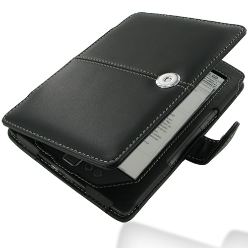 Amazon Kindle 4 Leather Flip Carry Cover (Black) :: PDair