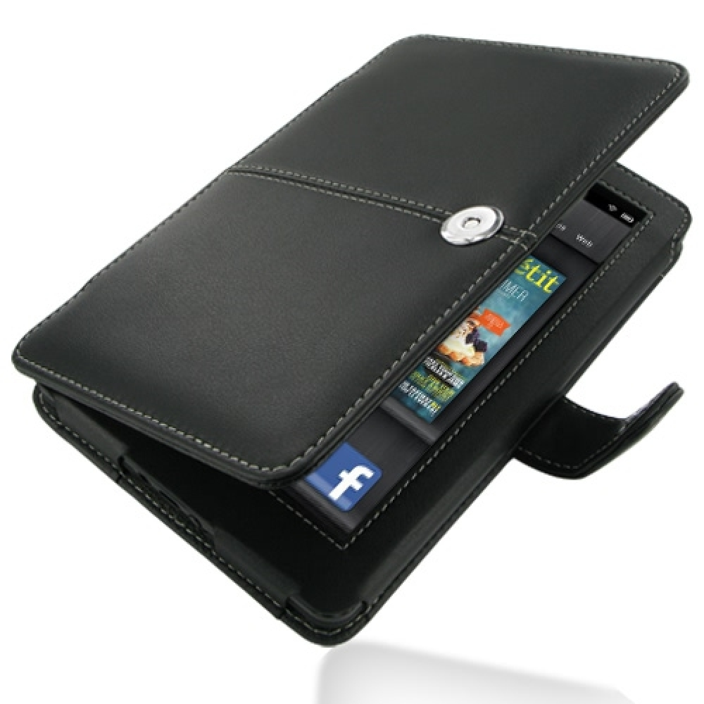 Kindle fire protective case kindle fire protective case images -  Amazon Kindle Fire Leather Flip Carry Cover Black Pdair Premium Hadmade Genuine Leather Protective