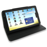 Leather Book Stand Case for Archos 101 Internet Tablet (Black)