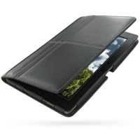 Leather Book Stand Case for Asus Eee Pad Transformer TF101 (Black)