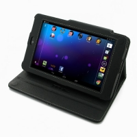 Asus Google Nexus 7 Leather Flip Carry Cover PDair Premium Hadmade Genuine Leather Protective Case Sleeve Wallet