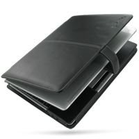 Leather Book Stand Case for Asus UL20A Series (Black)