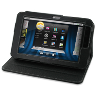Leather Book Stand Case for Dell Streak 7 (Black)