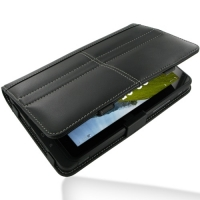 Leather Book Stand Case for Fujitsu STYLISTIC MH350 (Black)