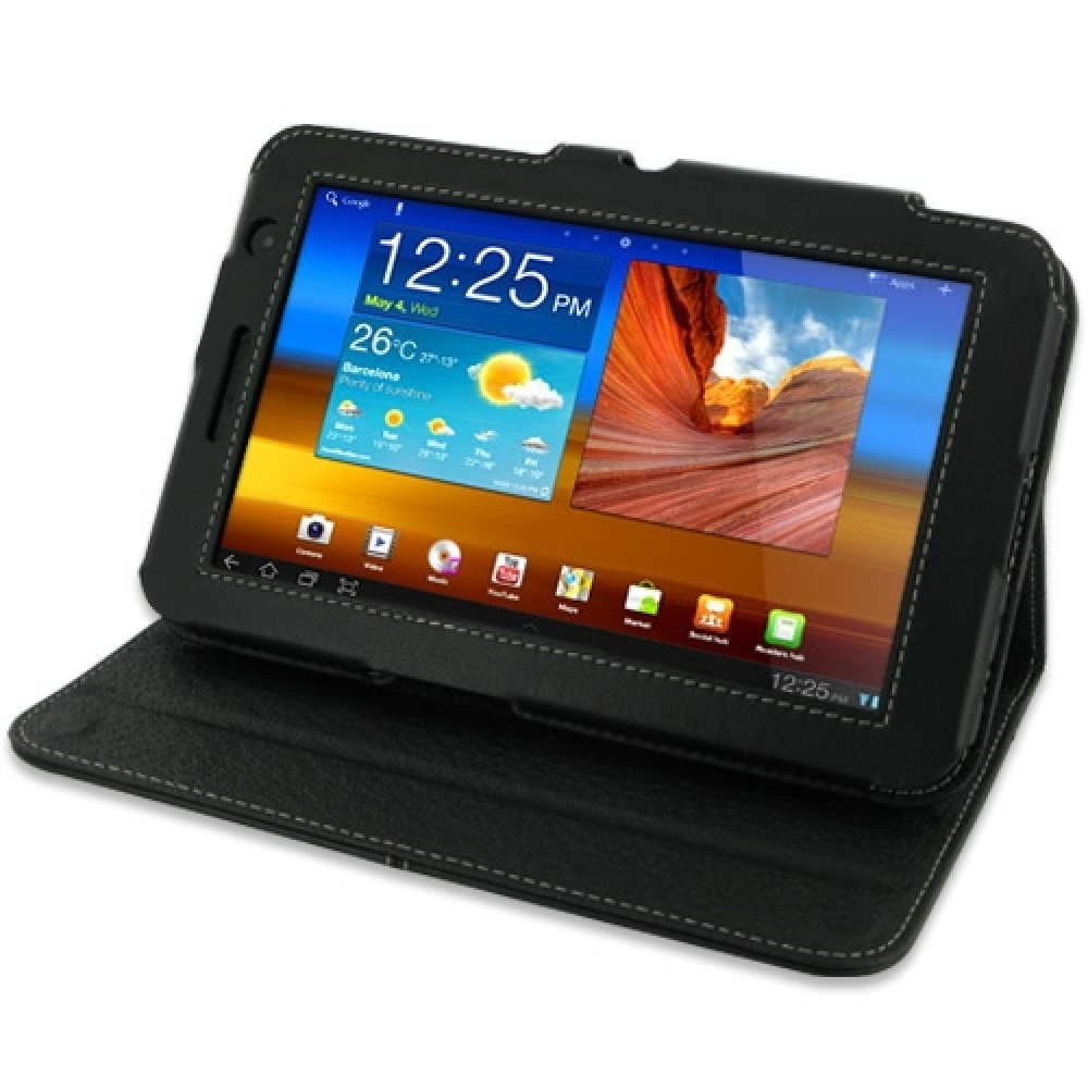 10% OFF + FREE SHIPPING, Buy PDair Top Quality Handmade Protective Samsung Galaxy Tab 7.0 Plus Leather Flip Carry Cover (Black). You also can go to the customizer to create your own stylish leather case if looking for additional colors, patterns and types