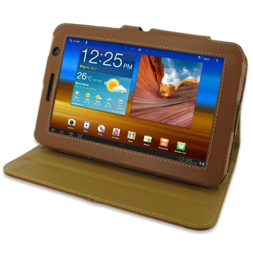 10% OFF + FREE SHIPPING, Buy PDair Top Quality Handmade Protective Samsung Galaxy Tab 7.0 Plus Leather Flip Carry Cover (Brown). You also can go to the customizer to create your own stylish leather case if looking for additional colors, patterns and types