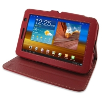 10% OFF + FREE SHIPPING, Buy PDair Top Quality Handmade Protective Samsung Galaxy Tab 7.0 Plus Leather Flip Carry Cover (Red). You also can go to the customizer to create your own stylish leather case if looking for additional colors, patterns and types.