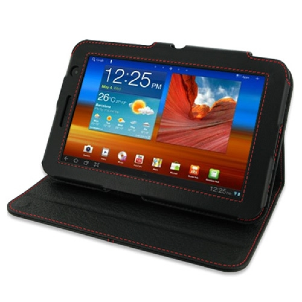 10% OFF + FREE SHIPPING, Buy PDair Quality Handmade Protective Samsung Galaxy Tab 7.0 Plus Leather Flip Carry Cover (Red Stitch) online. You also can go to the customizer to create your own stylish leather case if looking for additional colors, patterns a