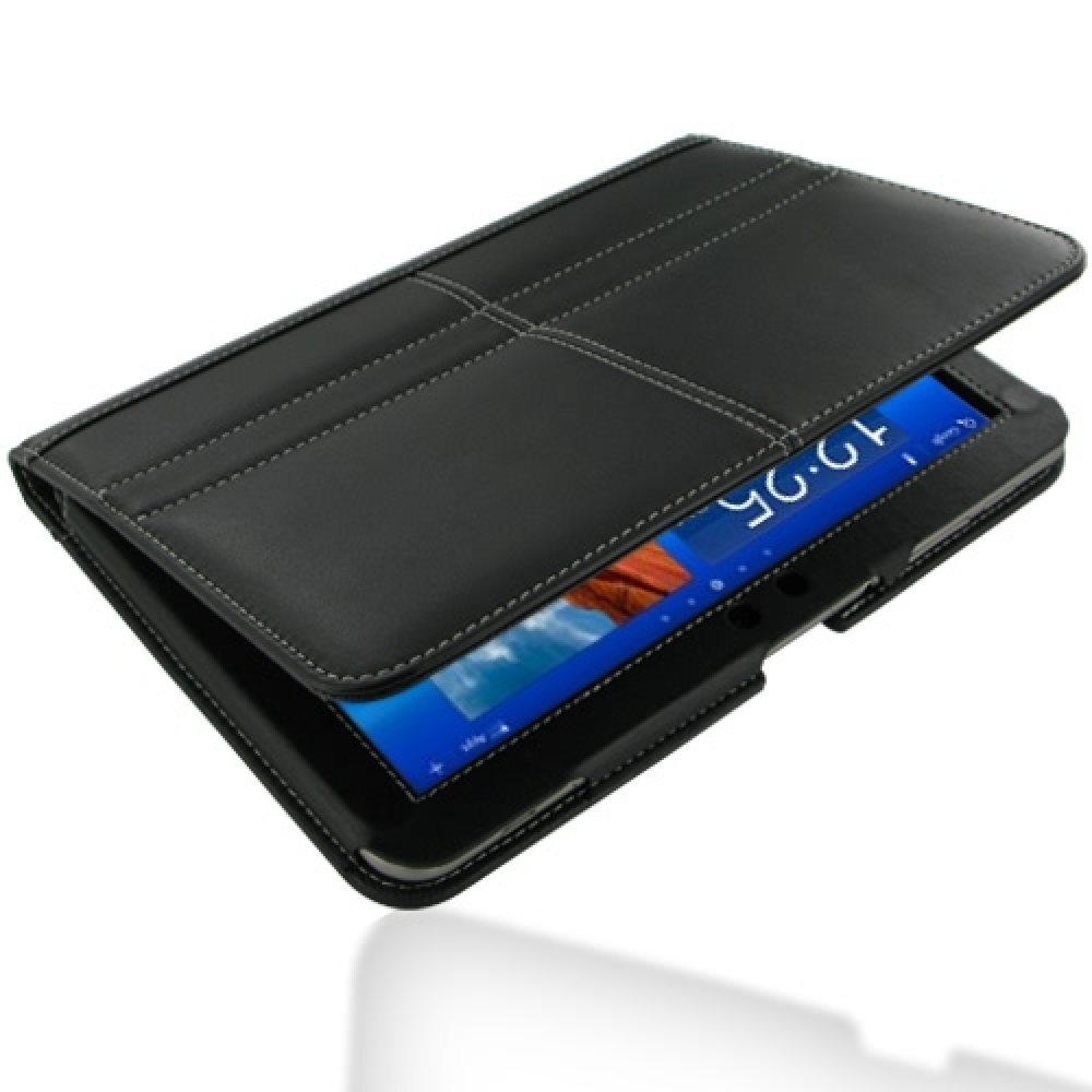 samsung galaxy tab 8 9 leather flip carry cover black. Black Bedroom Furniture Sets. Home Design Ideas