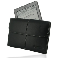 Leather Business Style Case for Amazon Kindle 4 (Black)