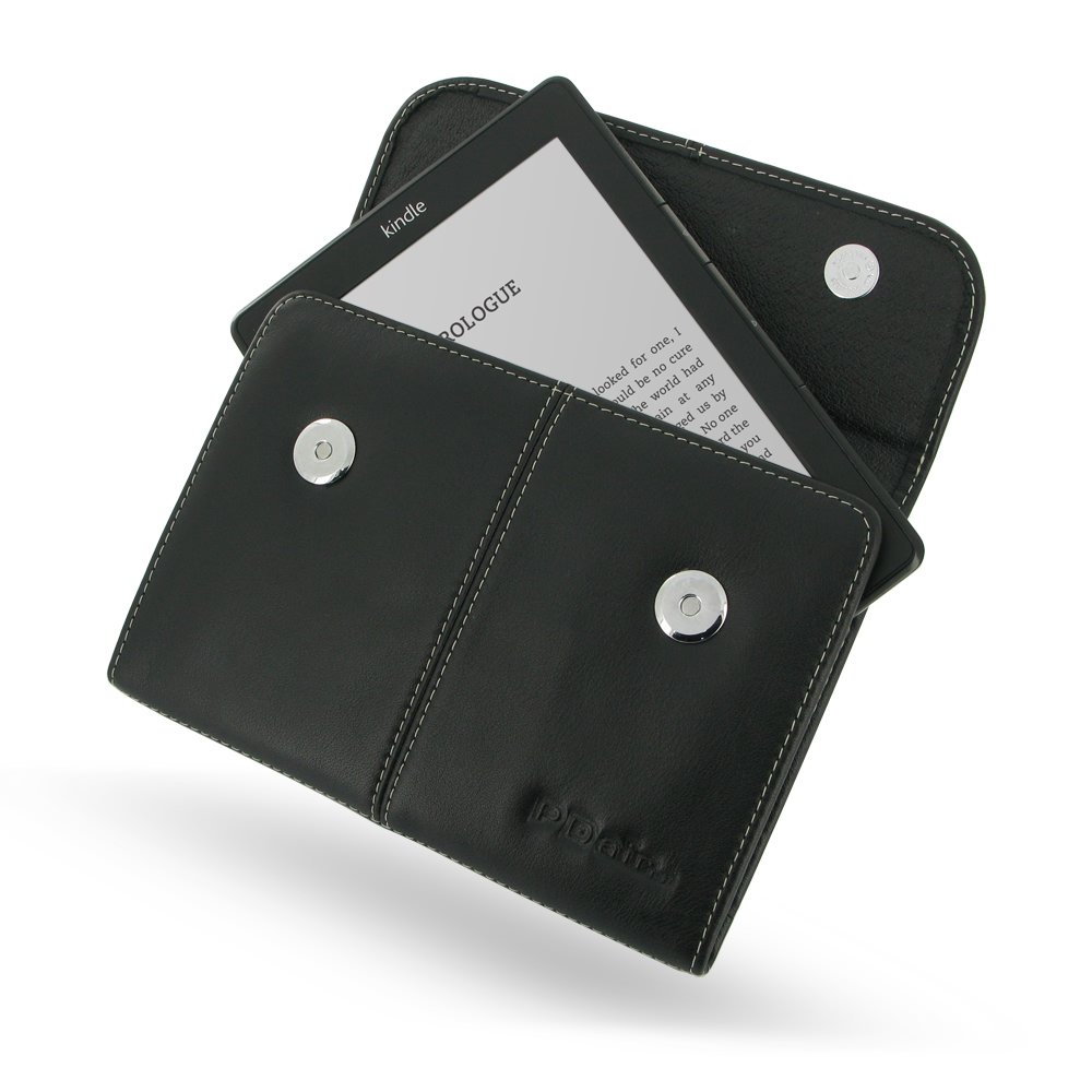 Leather Business Style Case for Amazon Kindle Lite 2 (Black)