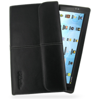Leather Business Style Case for Archos 101 Internet Tablet (Black)