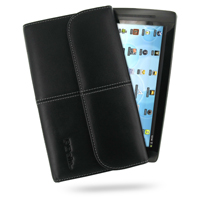 Leather Business Style Case for Archos 70 Internet Tablet (8GB) (Black)