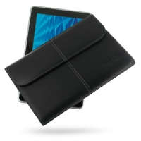 HP Slate 500 Tablet PC Leather Sleeve Pouch PDair Premium Hadmade Genuine Leather Protective Case Sleeve Wallet