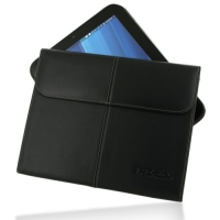 HP TouchPad Leather Sleeve Pouch (Black) PDair Premium Hadmade Genuine Leather Protective Case Sleeve Wallet