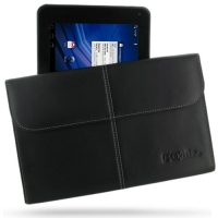 LG Optimus Pad L-06C Leather Sleeve Pouch (Black) PDair Premium Hadmade Genuine Leather Protective Case Sleeve Wallet