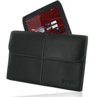 Motorola DROID XYBOARD 8.2 Leather Sleeve Pouch (Black) PDair Premium Hadmade Genuine Leather Protective Case Sleeve Wallet