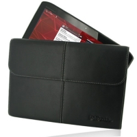Leather Business Style Case for Motorola XOOM 2 10.1 MZ616 MZ615 (Black)