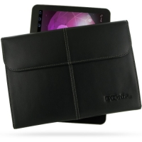 Samsung Galaxy Tab 10.1v Leather Sleeve Pouch (Black) PDair Premium Hadmade Genuine Leather Protective Case Sleeve Wallet