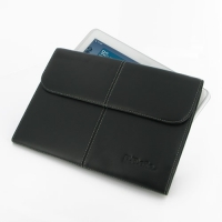 Samsung Galaxy Tab 2 10.1 Leather Sleeve Pouch (Black) PDair Premium Hadmade Genuine Leather Protective Case Sleeve Wallet