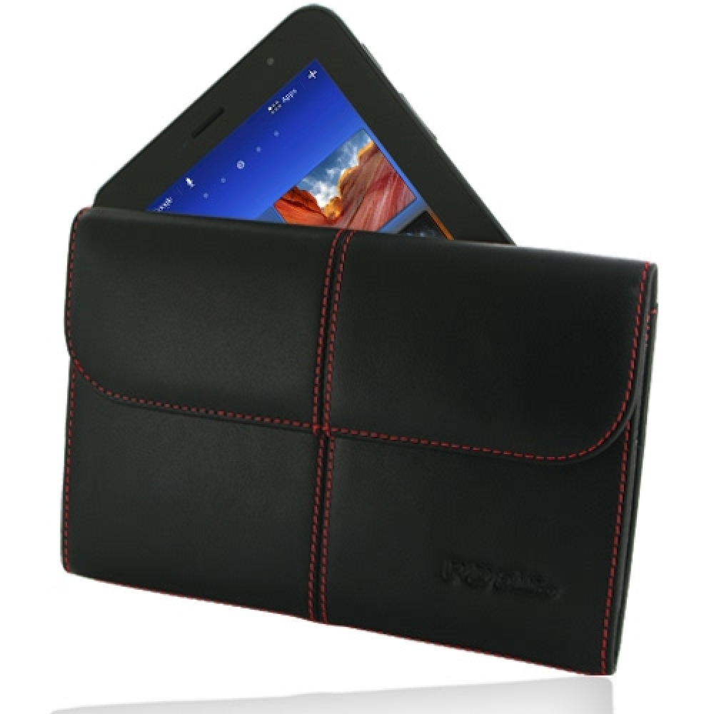 10% OFF + FREE SHIPPING, Buy Best PDair Quality Handmade Protective Samsung Galaxy Tab 7.0 Plus Leather Sleeve Pouch (Red Stitch). You also can go to the customizer to create your own stylish leather case if looking for additional colors, patterns and typ