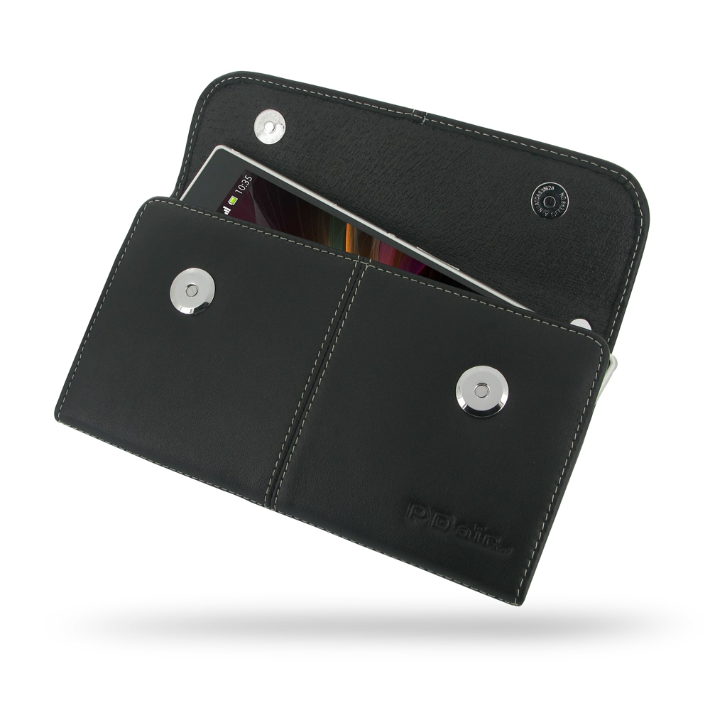 Sony Xperia Z Ultra Leather Sleeve Pouch PDair Premium Hadmade Genuine Leather Protective Case Sleeve Wallet