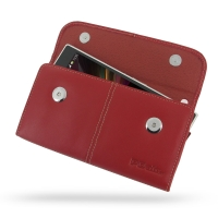 10% OFF + FREE SHIPPING, Buy Best PDair Top Quality Handmade Protective Sony Xperia Z Ultra Leather Sleeve Pouch (Red) online. Pouch Sleeve Holster Wallet You also can go to the customizer to create your own stylish leather case if looking for additional
