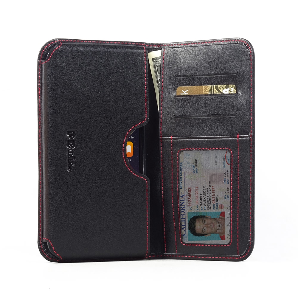 10% OFF + FREE SHIPPING, Buy PDair Quality Handmade Protective iPhone 6 Plus | iPhone 6s Plus (in Slim Cover) Genuine Leather Wallet Sleeve Case (Red Stitch) You also can go to the customizer to create your own stylish leather case if looking for addition