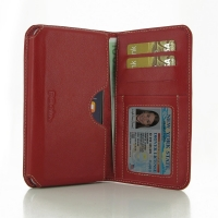 Leather Card Wallet for Apple iPhone 6 Plus | iPhone 6s Plus (Red)