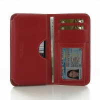 Leather Card Wallet for BlackBerry Z3 (Red)