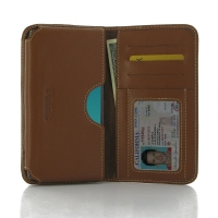 Leather Card Wallet for LG G4 H815 (Brown)