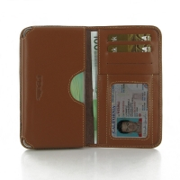 Leather Card Wallet for Samsung Galaxy A7 SM-A700 (Brown)