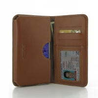 Leather Card Wallet for Samsung Galaxy Note 4 | Samsung Galaxy Note4 | SM-N910 (Brown)