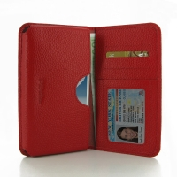 Leather Card Wallet for Samsung Galaxy Note 2 | Samsung Galaxy Note2 | GT-N7100 (Red Pebble Leather)