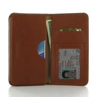 Leather Card Wallet for Samsung Galaxy Note 5 | Samsung Galaxy Note5 (Brown Pebble Leather)