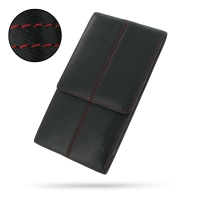 Leather Envelope Style Case for Sony Xperia Z Ultra XL39h (Red Stitch)