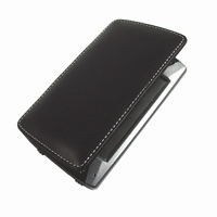 HP iPAQ hx4700 Series Leather Face Cover Case (Black) PDair Premium Hadmade Genuine Leather Protective Case Sleeve Wallet