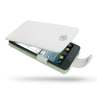 Acer Liquid S1 Leather Flip Case (White) PDair Premium Hadmade Genuine Leather Protective Case Sleeve Wallet