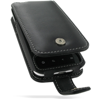 Leather Flip Case for Acer Neo Touch P400/beTouch E400 (Black)