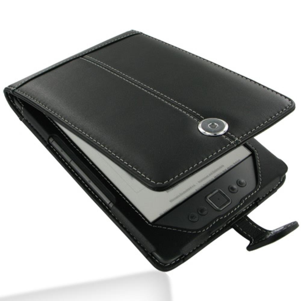 Leather Flip Case for Amazon Kindle 4 (Black)