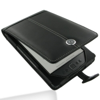 Leather Flip Case for Amazon Kindle 4 (Black)