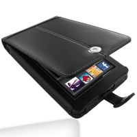Leather Flip Case for Amazon Kindle fire (Black)