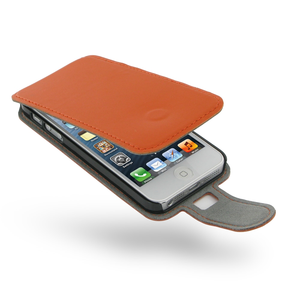 10% OFF + FREE SHIPPING, Buy Best PDair Quality Handmade Protective iPhone 5 | iPhone 5s Genuine Leather Flip Case (Orange) online. Pouch Sleeve Holster Wallet You also can go to the customizer to create your own stylish leather case if looking for additi