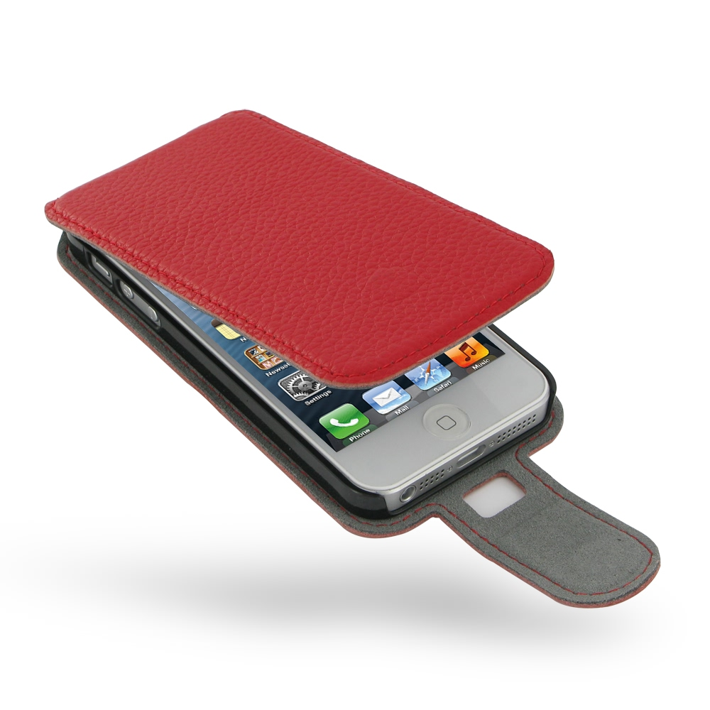 iphone 5s flip case iphone 5 5s leather flip pebble leather 14794