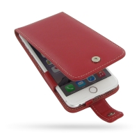 Leather Flip Case for Apple iPhone 6 Plus | iPhone 6s Plus (Red)