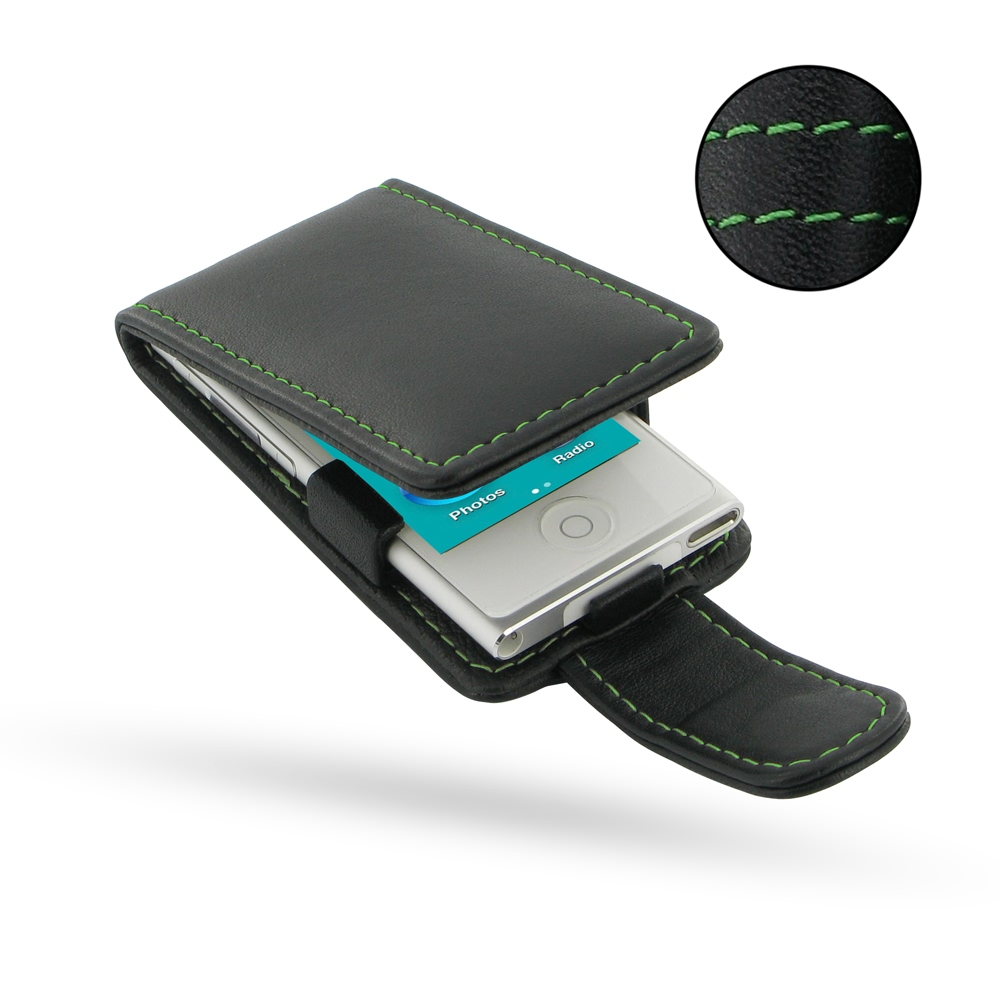 10% OFF + FREE SHIPPING, Buy PDair Quality Handmade Protective iPod nano 8th / nano 7th Genuine Leather Flip Case (Green Stitch) online. You also can go to the customizer to create your own stylish leather case if looking for additional colors, patterns a