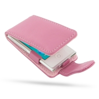 iPod nano 8th / nano 7th Leather Flip Case (Petal Pink) PDair Premium Hadmade Genuine Leather Protective Case Sleeve Wallet