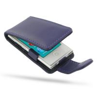 iPod nano 8th / nano 7th Leather Flip Case (Purple) PDair Premium Hadmade Genuine Leather Protective Case Sleeve Wallet
