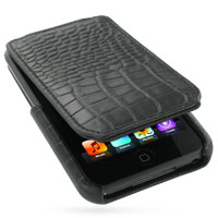 10% OFF + FREE SHIPPING, Buy PDair Quality Handmade Protective iPod Touch Genuine Leather Flip Case Ver.4 (Black Croc Pattern) online. You also can go to the customizer to create your own stylish leather case if looking for additional colors, patterns and